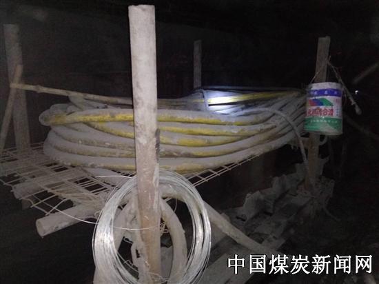 山东能源临矿集团田煤公司武所屯煤矿综掘机可移动式电缆架得到广泛应用